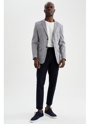 DeFacto Slim Fit Blazer Ceket Hardal